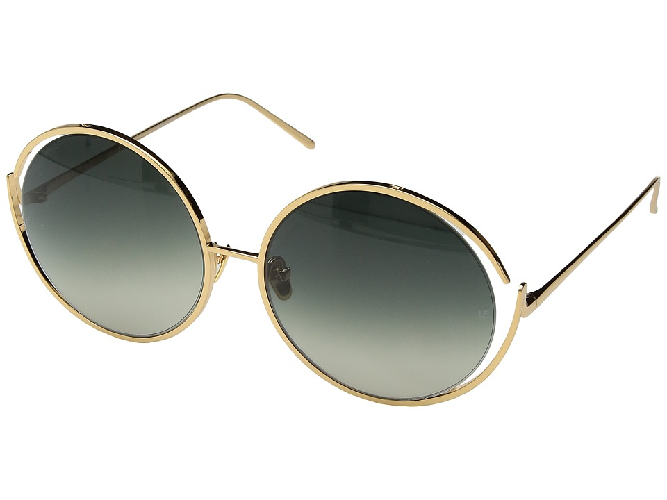 Linda Farrow Luxe - LFL680C4SUN Rounds (Yellow Gold) Fashion Sunglasses