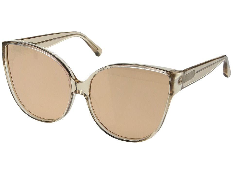 Linda Farrow Luxe - LFL656C5SUN Cat Eyes (Rose Gold) Fashion Sunglasses