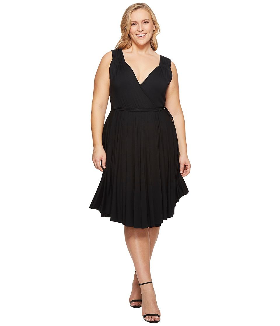 Rachel Pally - Plus Size Nella Dress White Label (Black) Womens Dress
