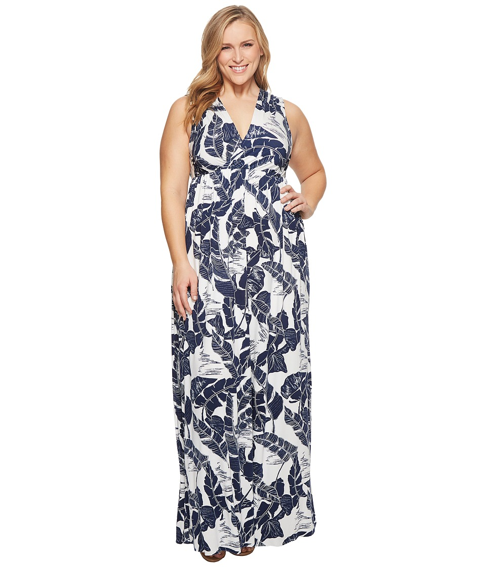 Rachel Pally - Plus Size Morning Dress White Label (Palma Print) Womens Dress