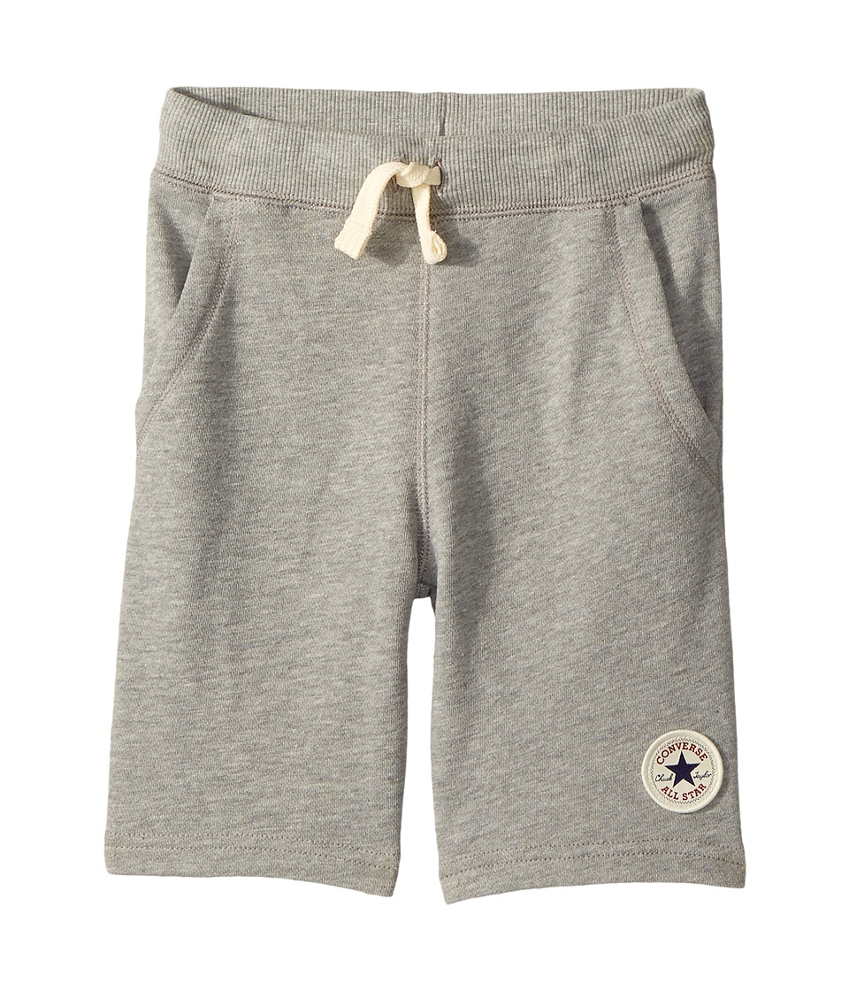 Converse Kids - Core French Terry CTP Shorts (Toddler/Little Kids) (Dark Grey Heather) Boys Shorts