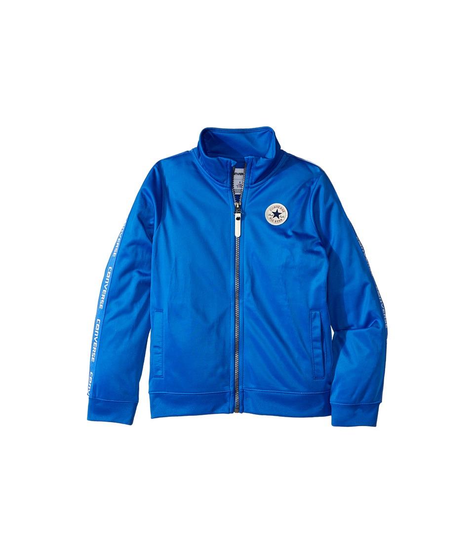 Converse Kids - Warmup Wordmark Jacket (Toddler/Little Kids) (Laser Blue) Boys Coat