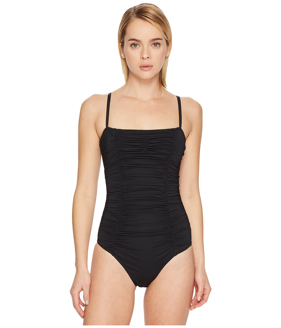 Letarte - Ruched One-Piece (Black) Womens Swimsuits One Piece