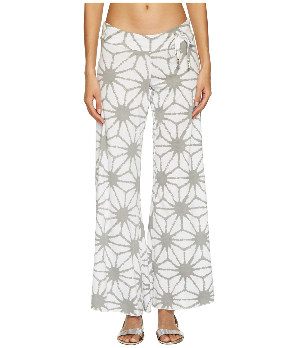 Letarte - SHIBORI BEACH PANT (LT Grey Multi) Womens Swimwear