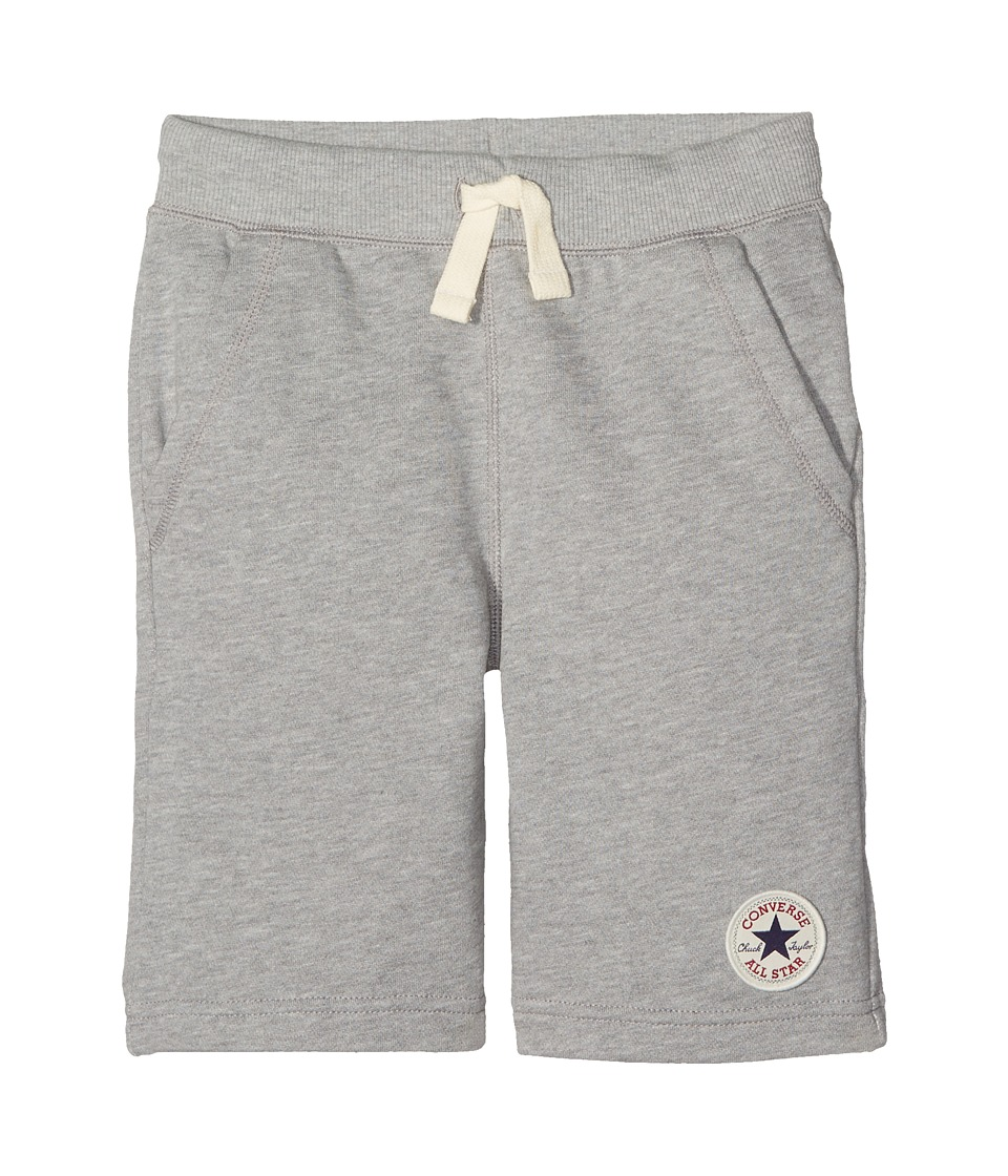 Converse Kids - Core French Terry CTP Shorts (Big Kids) (Dark Grey Heather) Boys Shorts