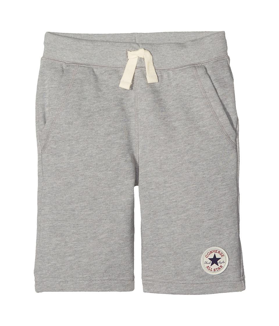 Converse Kids - Core French Terry CTP Shorts (Big Kids) (Dark Grey Heather) Boys Shorts