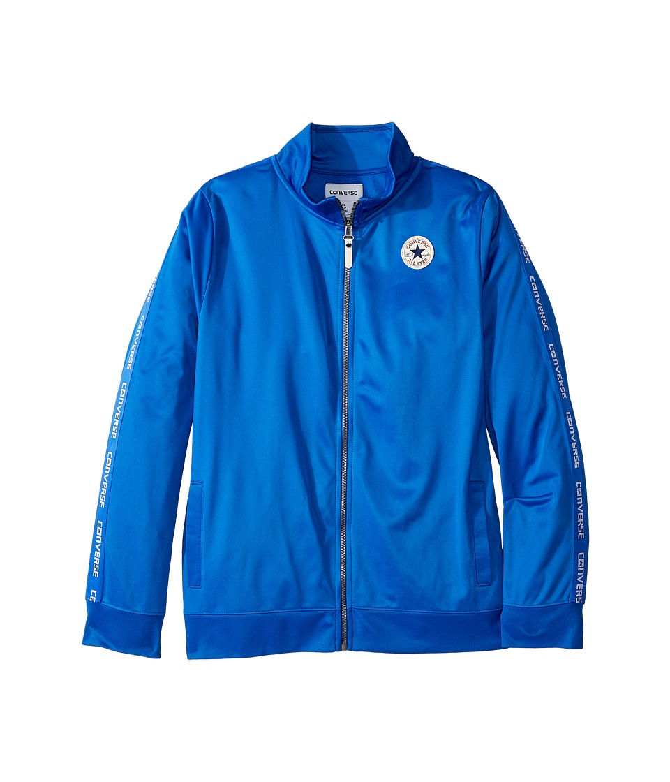 Converse Kids - Warmup Wordmark Jacket (Big Kids) (Laser Blue) Boys Coat