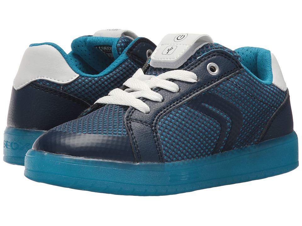 Geox Kids - Kommodorba 3 (Little Kid/Big Kid) (Navy/Light Blue) Boys Shoes