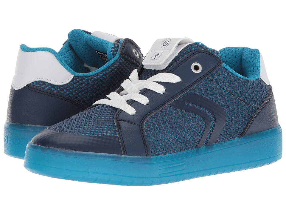 Geox Kids - Kommodorba 3 (Big Kid) (Navy/Light Blue) Boys Shoes