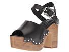 The Kooples Wood Heel Leather Sandal