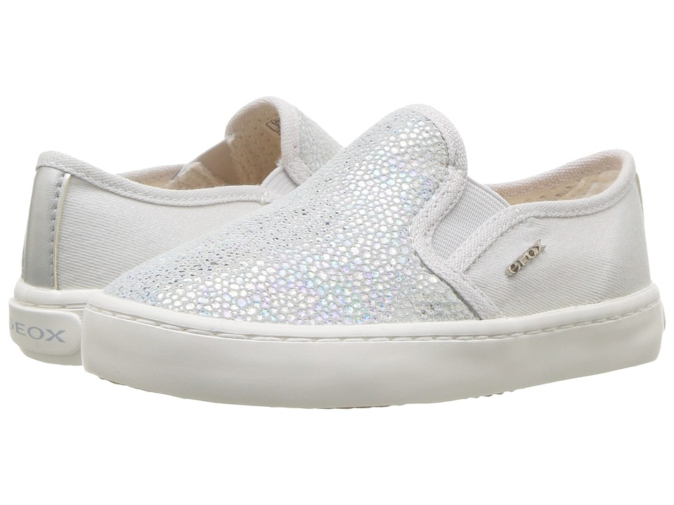 Geox Kids - Kilwi 10 (Toddler/Little Kid) (Light Grey/Silver) Girls Shoes