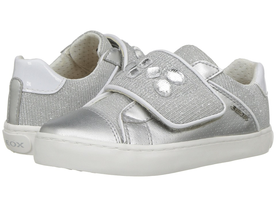Geox Kids - Kilwi 17 (Toddler/Little Kid) (Silver) Girls Shoes