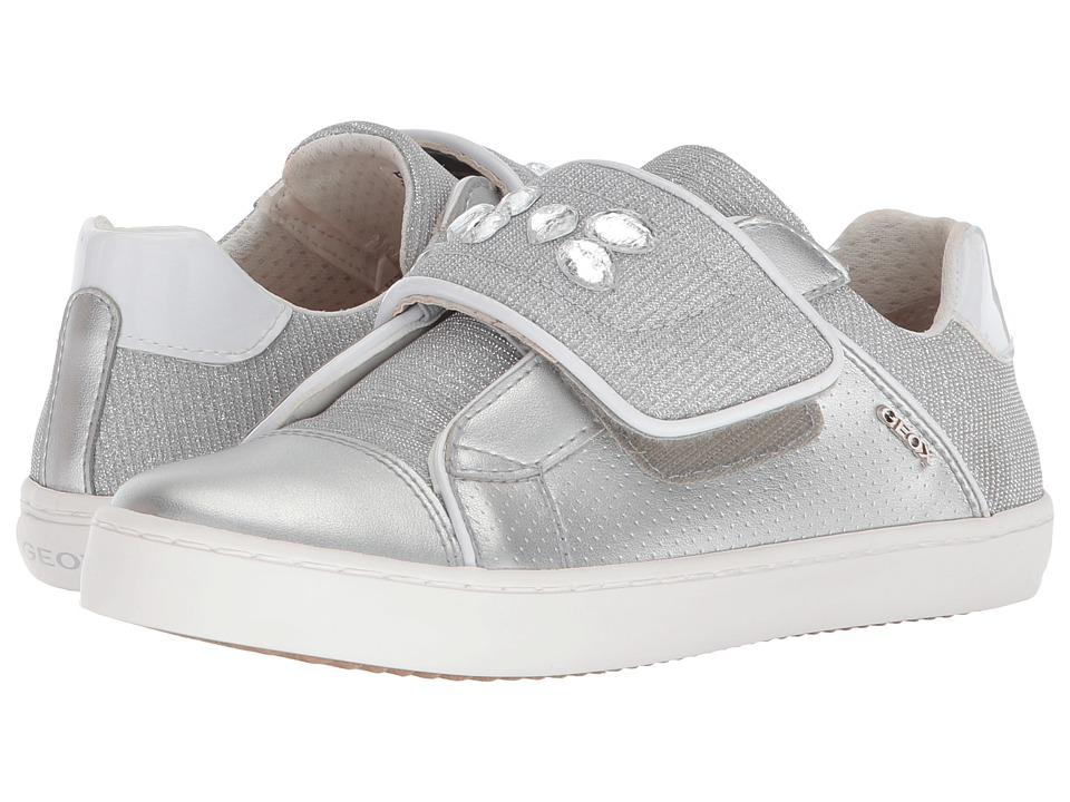 Geox Kids - Kilwi 17 (Little Kid/Big Kid) (Silver) Girls Shoes