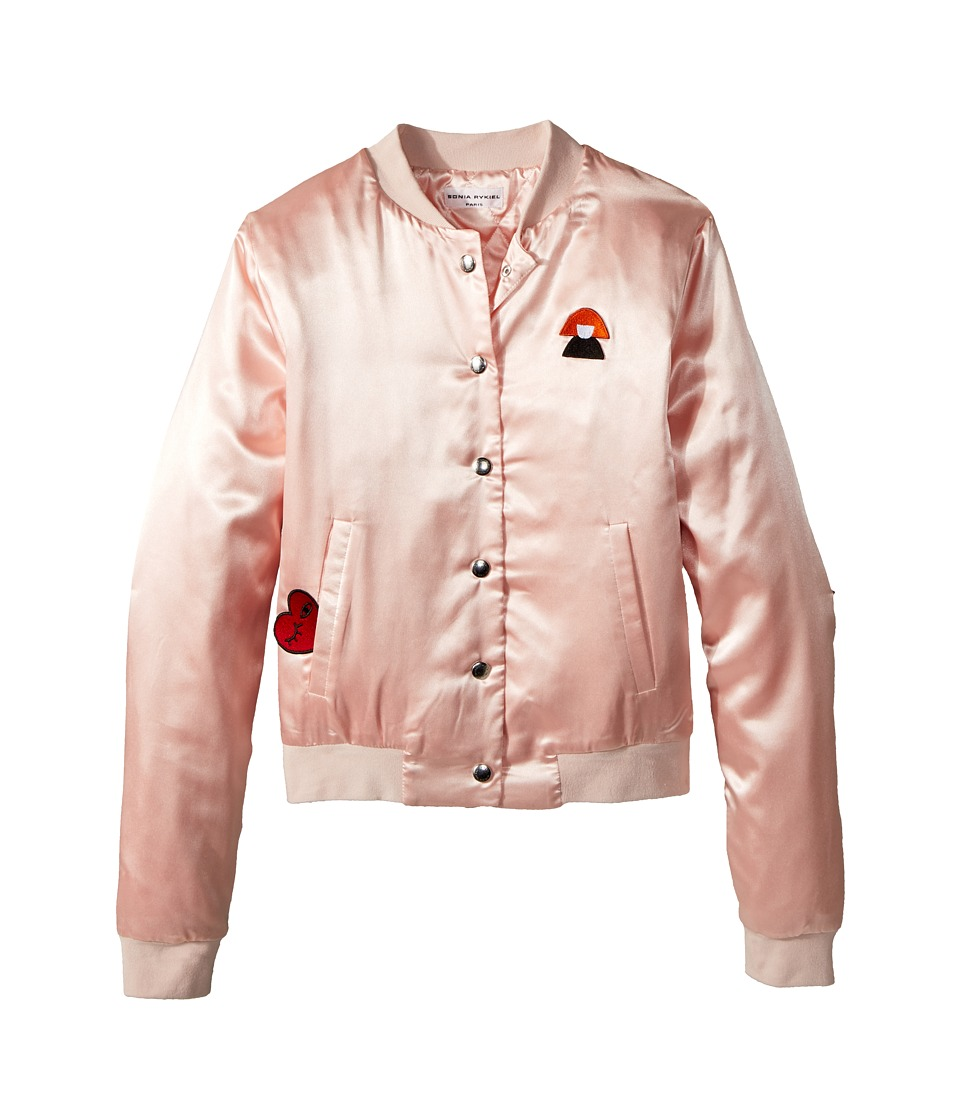 Sonia Rykiel Kids - Alegria Satin Jacket w/ Logo On Back (Big Kids) (Opera) Girls Coat