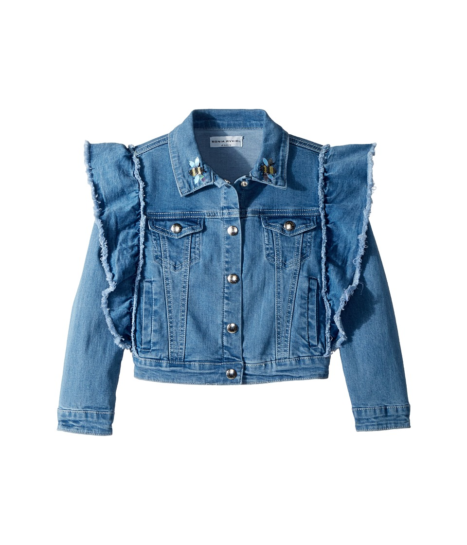 Sonia Rykiel Kids - Anny Denim Jacket (Little Kids/Big Kids) (Light Blue) Girls Coat