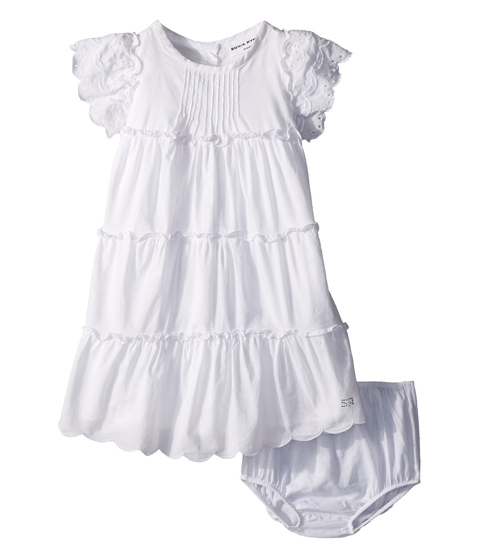 Sonia Rykiel Kids - Ambre Dress Diaper Cover (Infant) (White) Girls Dress