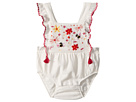 Sonia Rykiel Kids Anemone Floral Embroidered Romper (Infant)