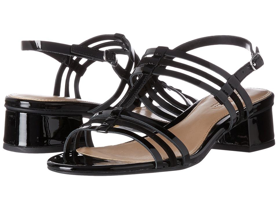 LAUREN Ralph Lauren Becki (Black/Black Patent Leather/Kid Suede) Women's Dress Sandals
