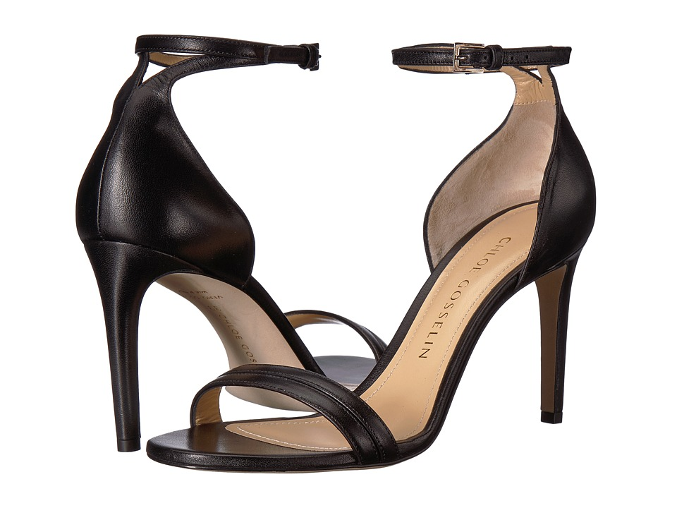 CHLOE GOSSELIN - Narcissus Ankle Strap Open Toe Heel (Black Nappa) Womens Shoes