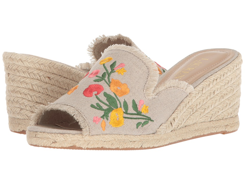 LAUREN Ralph Lauren - Carlynda II (Flax Embroidered Linen) Womens Shoes