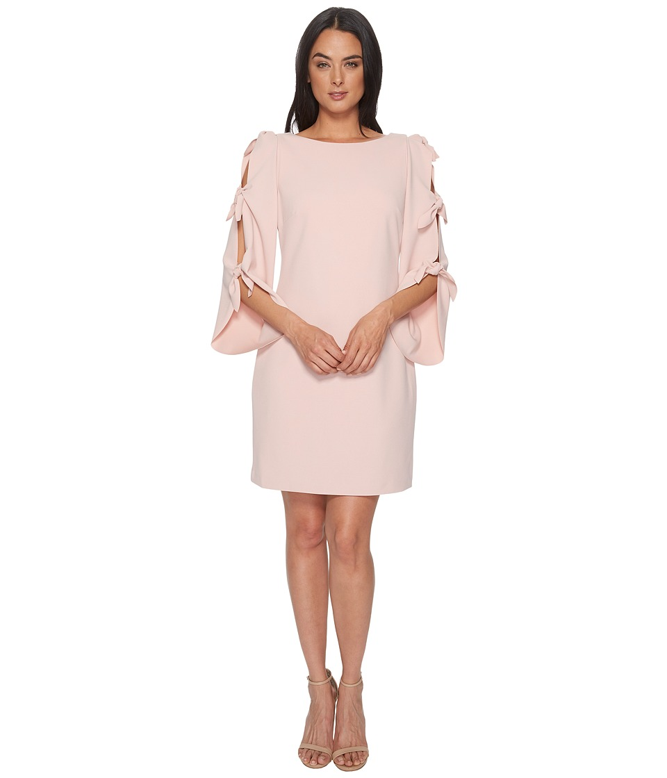Vince Camuto - Tie Bell Sleeve Crepe Ponte Dress (Wild Rose) Womens Dress