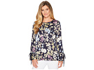 Vince Camuto Long Sleeve Flare Cuff Country Floral Blouse