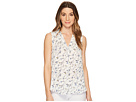 Vince Camuto Sleeveless Scatter Bouquet V-Neck Blouse