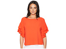 Vince Camuto Vince Camuto Drop Shoulder Tiered Sleeve Textured Blouse