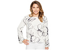 Vince Camuto Specialty Size Petite Side Drawstring Bell Sleeve Fresco Petal Blouse