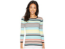 Vince Camuto Vince Camuto Long Sleeve Color Blocked Ribbed Sweater