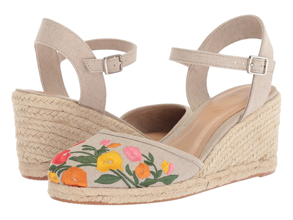 Vintage Style Shoes, Vintage Inspired Shoes LAUREN Ralph Lauren - Hayleigh Flax Linen Womens Shoes $95.00 AT vintagedancer.com