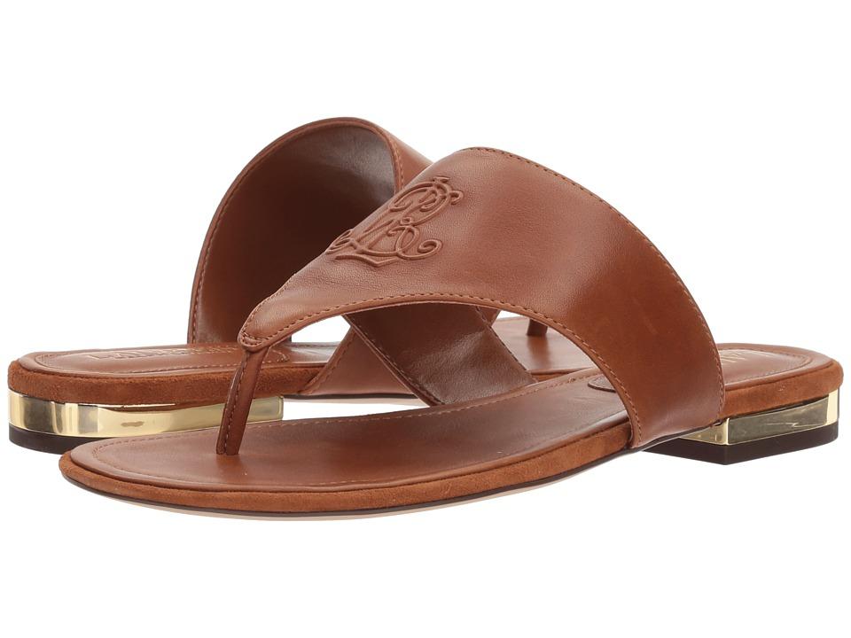 LAUREN Ralph Lauren Deandra (Deep Saddle Tan Super Soft Leather) Women