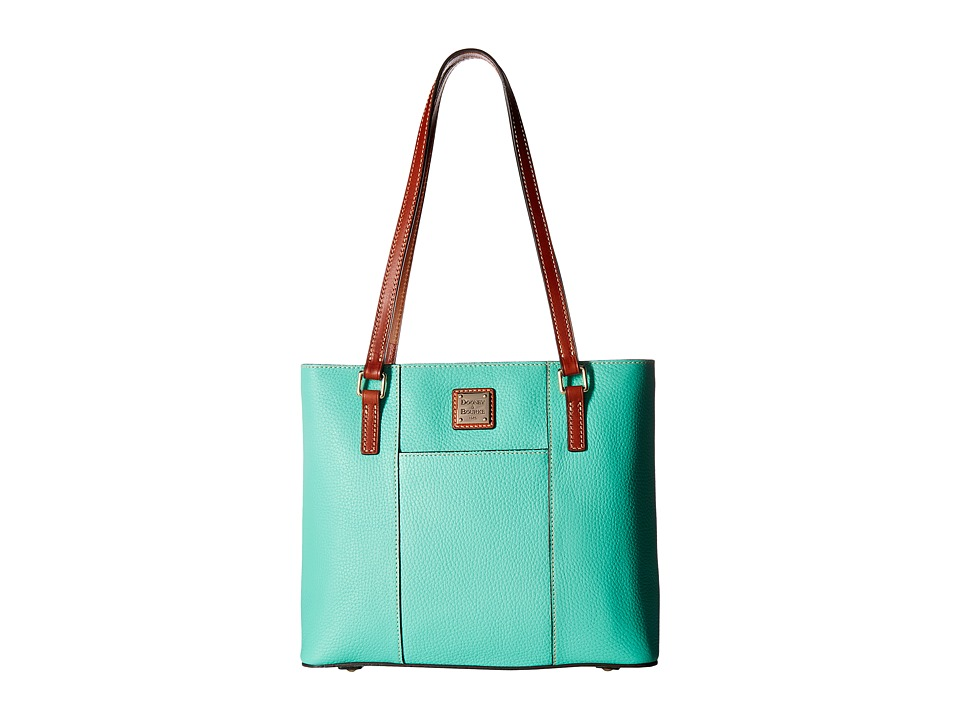 Dooney & Bourke - Pebble Small Lexington Shopper (Jade/Tan Trim) Tote Handbags
