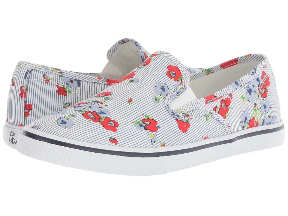 LAUREN Ralph Lauren - Janis (Pinstripe Floral Print Printed Poplin) Womens Slip on  Shoes