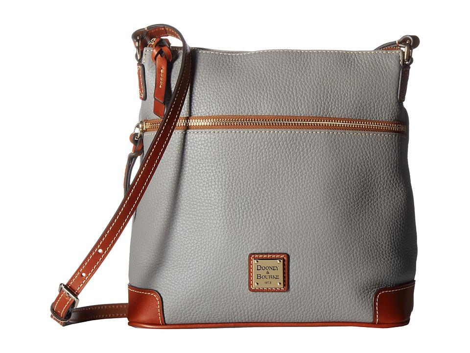 Dooney & Bourke - Pebble Crossbody (Stone/Tan Trim) Cross Body Handbags