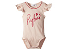 Sonia Rykiel Kids Adenora Ruffle Sleeve Bodysuit w/ Logo on Front (Infant)