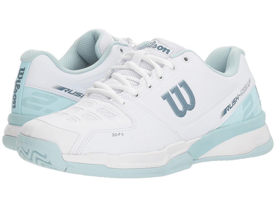 Wilson Rush Composite (White/Blue Glow/Provincial Blue) Women's Tennis Shoes