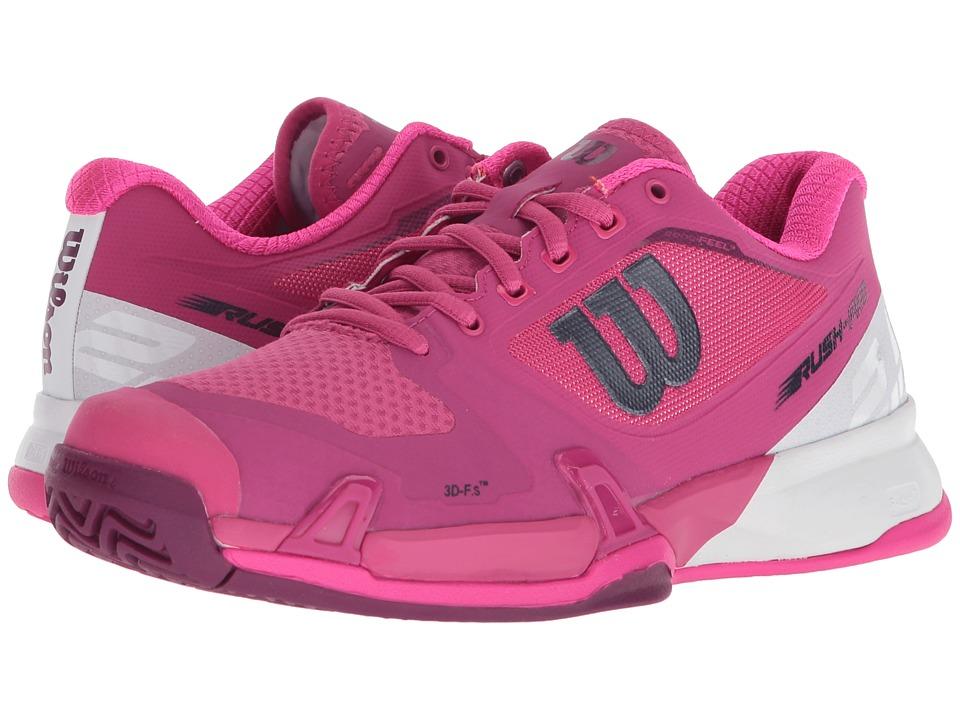 Wilson Rush Pro 2.5 (Very Berry/White/Pink Glow) Women's Tennis Shoes