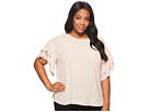 Vince Camuto Specialty Size Plus Size Drop Shoulder Tiered Sleeve Textured Blouse
