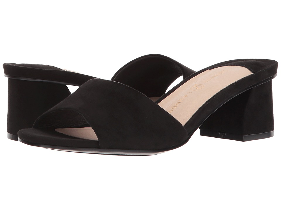 Chinese Laundry - My Girl (Black Microsuede/Synthetic) Women's Sandals
