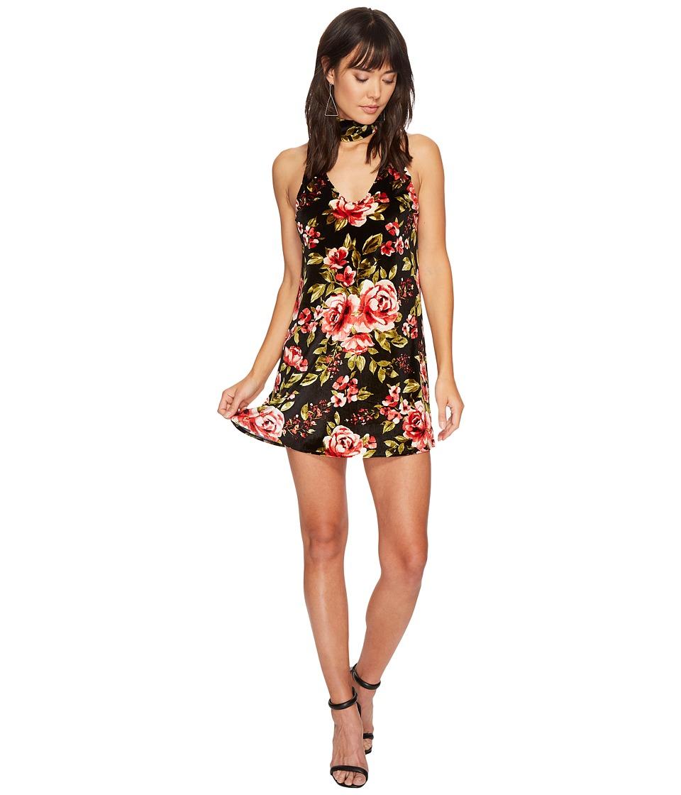 Show Me Your Mumu Friday Choker Dress (Vavoom Bloom Velvet) Women