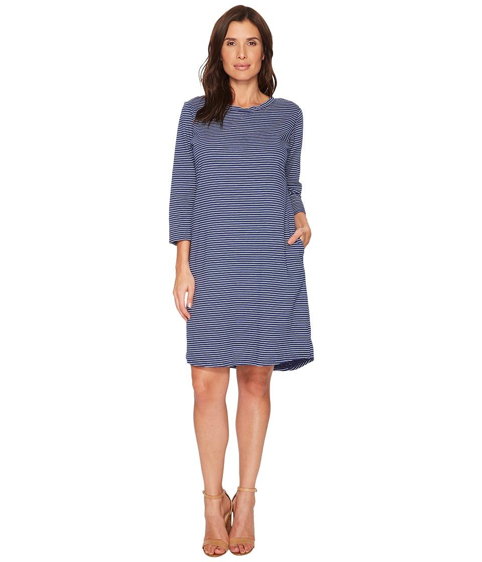 Fresh Produce - Pinstripe Catalina Dress (Moonlight Blue) Womens Dress