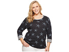 Extra Fresh by Fresh Produce Extra Fresh by Fresh Produce Plus Size White Sea Star Sunset Sweatshirt