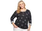 Extra Fresh by Fresh Produce Plus Size White Sea Star Sunset Sweatshirt