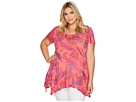 Extra Fresh by Fresh Produce Extra Fresh by Fresh Produce Plus Size Bright Botanical Vintage Drape Tee