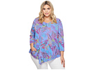 Extra Fresh by Fresh Produce Extra Fresh by Fresh Produce Plus Size Bright Botanical Ella Tunic