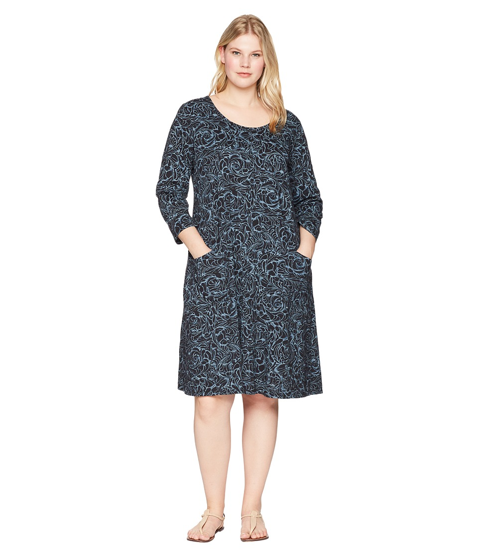 Extra Fresh by Fresh Produce - Plus Size Waves Dalia Dress (Black) Womens Dress