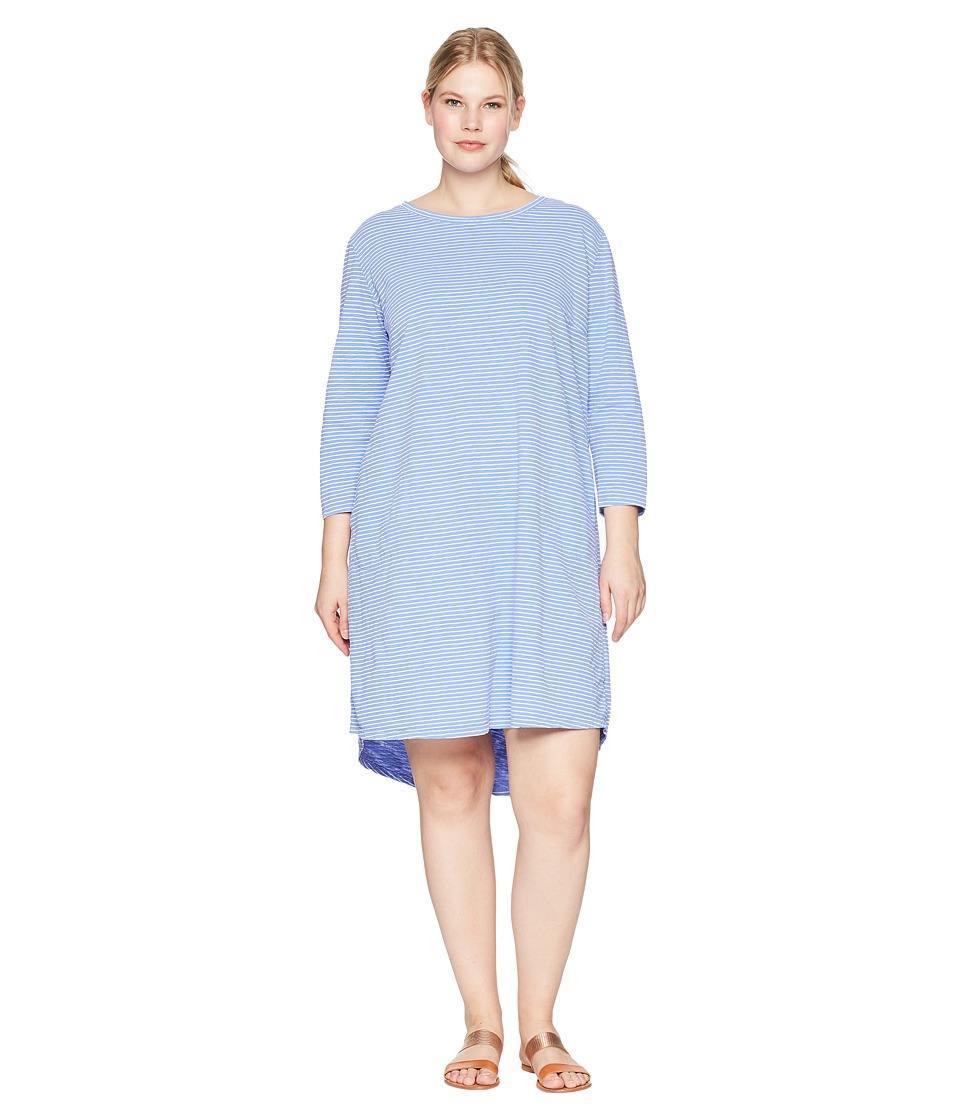 Extra Fresh by Fresh Produce - Plus Size Pinstripe Catalina Dress (Peri Blue) Womens Dress