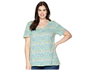 Extra Fresh by Fresh Produce Extra Fresh by Fresh Produce Plus Size Mosaic Shells Luna Top