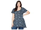 Extra Fresh by Fresh Produce Extra Fresh by Fresh Produce Plus Size Ocean Tide Vintage Drape Tee